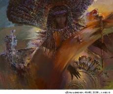 Дочь шамана, 48х60, 2006г.