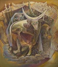 Бытовой сюжет, 99х85, 2010г.