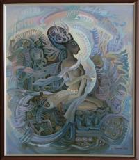 Воинствующая богиня, 85х98, 2011г.
