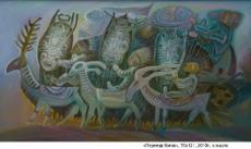 Переезд богов, 70х121, 2010г.