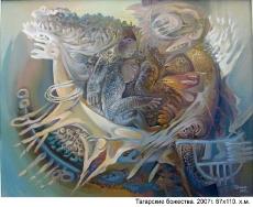 Тагарские божества, 87х110, 2007г.
